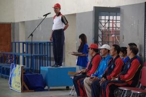 Pembukaann Sixteen Cup Oleh Kepala SMAN16 Sby, Bapak Drs. Sudarminto, M.Pd
