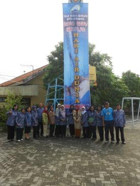 Penyambutan tamu Dirut PDAM Surya Sembada Surabaya
