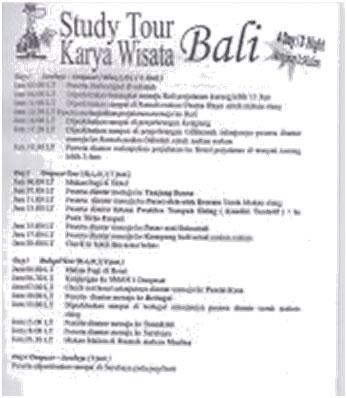 Jadwal Studi Tour Ke Bali Sma Negeri 16 Surabaya